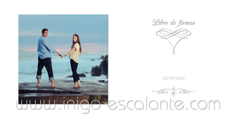 Fotógrafo Bodas Barakaldo Bilbao Getxo Algorta preboda Azkorri playa Vizcaya Bizkaia Libro de firmas